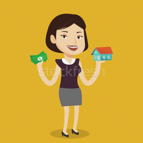 女性 買い 家 感謝 ローン 白人 ストックフォト © RAStudio
