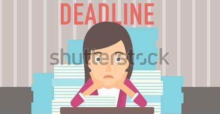 Empresário problema prazo de entrega asiático sessão Foto stock © RAStudio