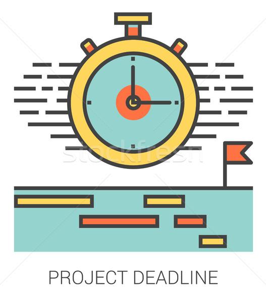 Proyecto fecha tope línea iconos infografía metáfora Foto stock © RAStudio