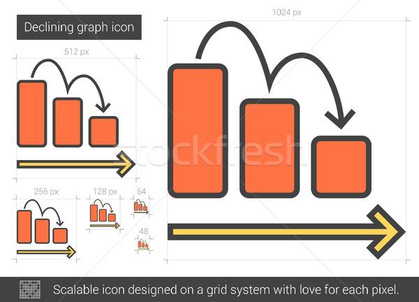 Declining graph line icon. Stock photo © RAStudio