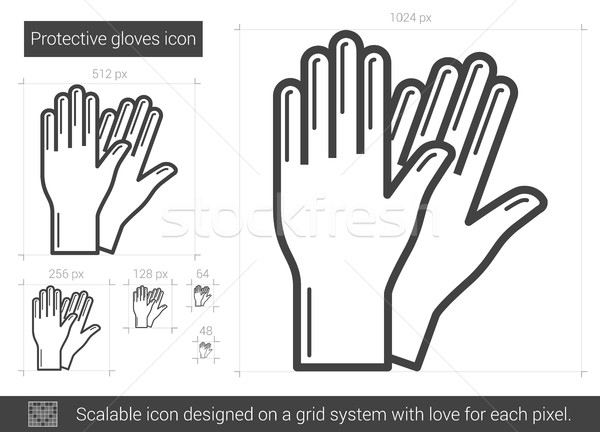 Protective gloves line icon. Stock photo © RAStudio