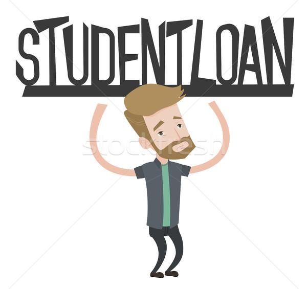 Estudiante signo préstamo jóvenes Foto stock © RAStudio
