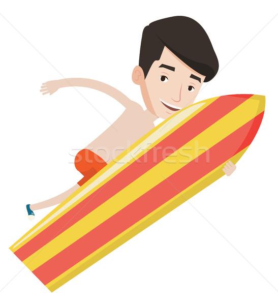 Gelukkig surfer actie surfen boord jonge Stockfoto © RAStudio