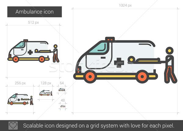 Ambulanza line icona vettore isolato bianco Foto d'archivio © RAStudio