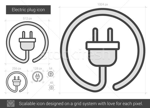 Elettrici plug line icona vettore isolato Foto d'archivio © RAStudio