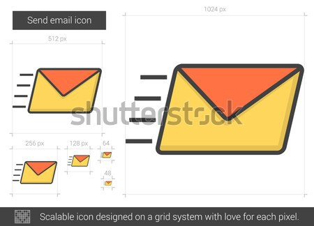Forward email line icon. Stock photo © RAStudio