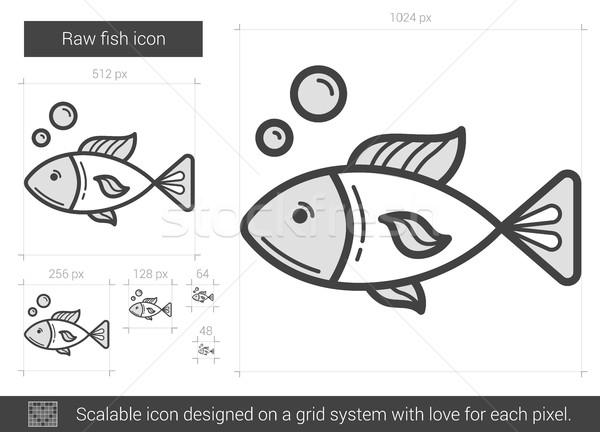 Raw fish line icon. Stock photo © RAStudio