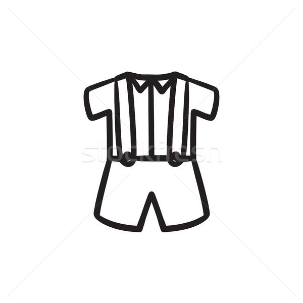 Bebek gömlek şort jartiyer kroki ikon Stok fotoğraf © RAStudio