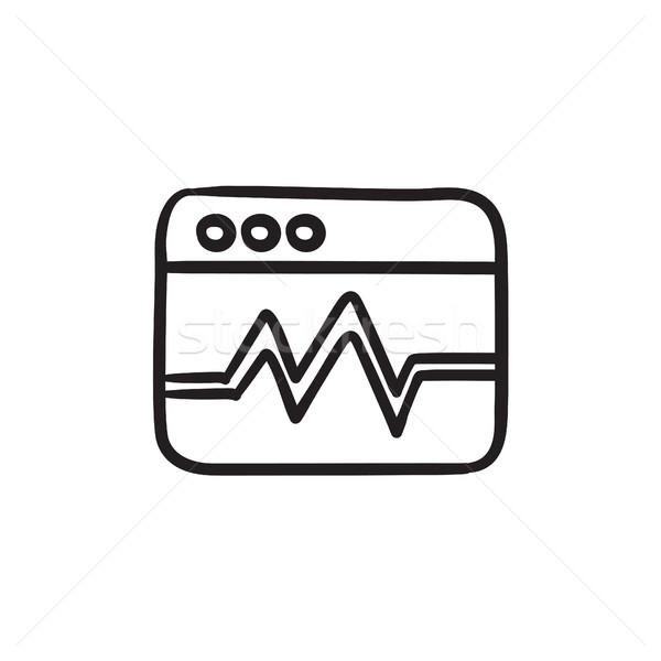 Web analytics informatie schets icon vector Stockfoto © RAStudio