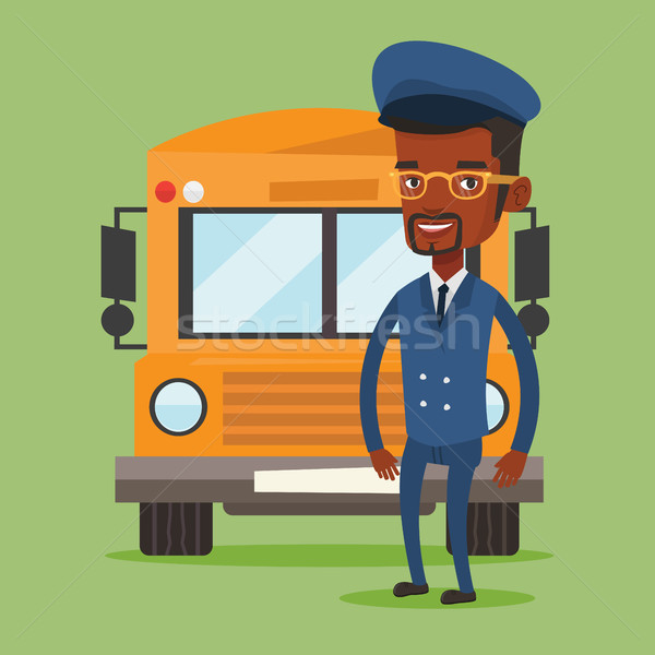 школьный автобус драйвера молодые школы Постоянный желтый Сток-фото © RAStudio