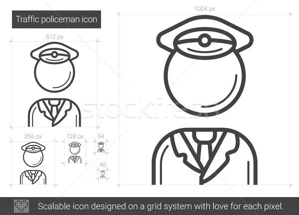 Traffic policeman line icon. Stock photo © RAStudio
