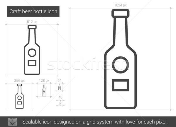 Craft beer bottle line icon. Stock photo © RAStudio