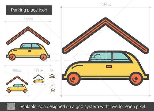 Aparcamiento lugar línea icono vector aislado Foto stock © RAStudio