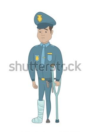 Kafkas güvenlik görevlisi binicilik elektrik üniforma Stok fotoğraf © RAStudio