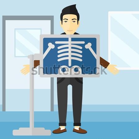Indiai röntgen eljárás fiatal orvos mellkas Stock fotó © RAStudio