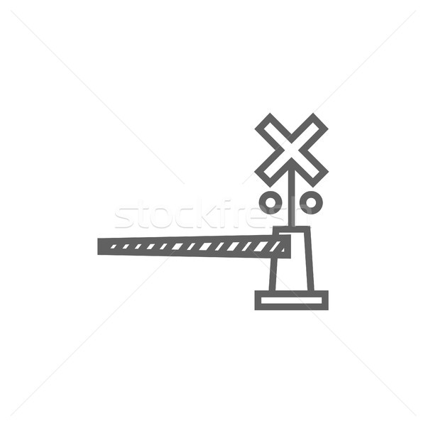 Railway barrier line icon. Stock photo © RAStudio