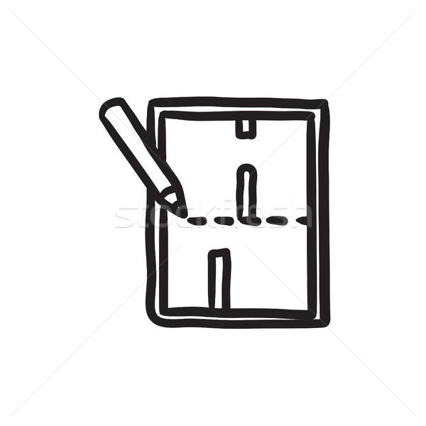 Układ domu szkic ikona wektora odizolowany Zdjęcia stock © RAStudio