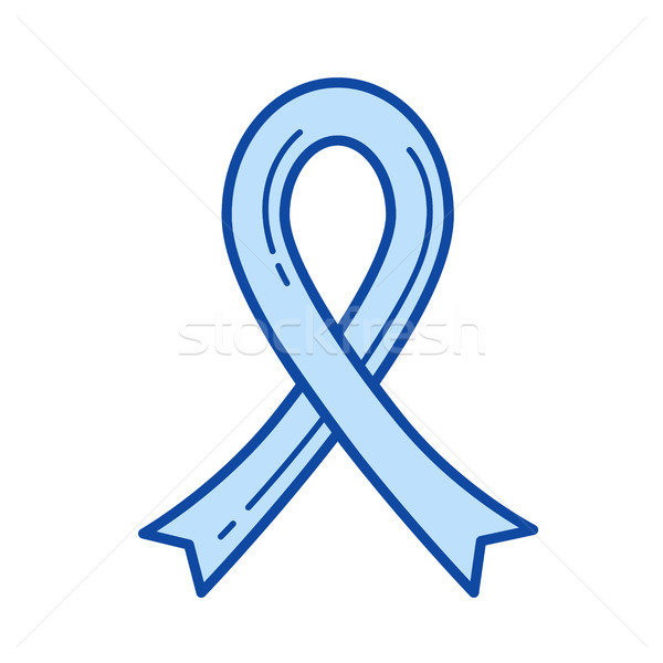 AIDS ribbon line icon. Stock photo © RAStudio