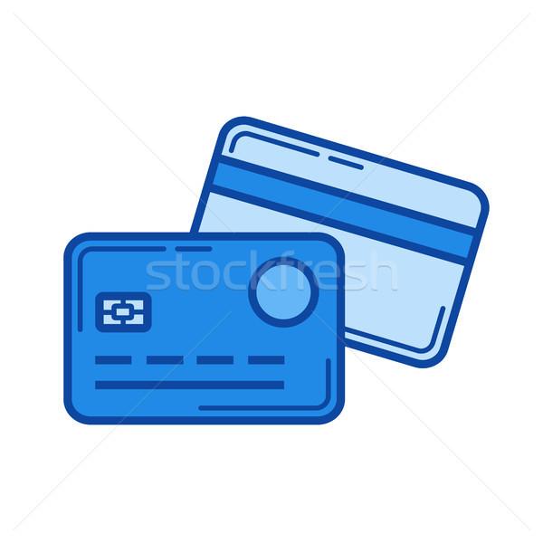 Ligne paiement ligne icône vecteur isolé Photo stock © RAStudio