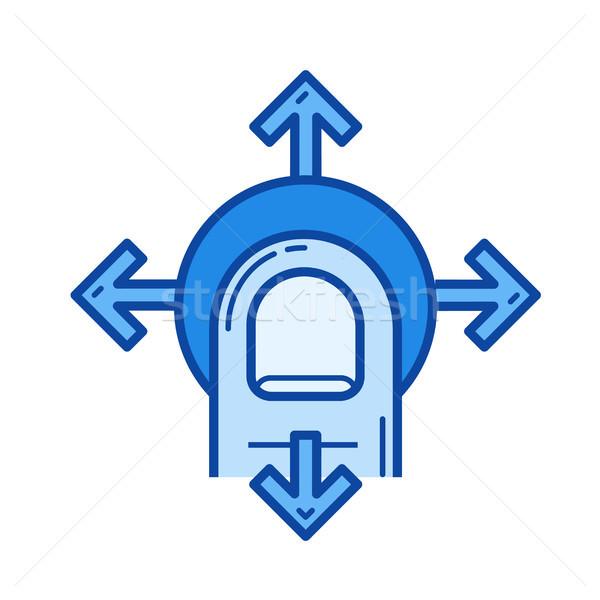 Navigasyon hat ikon vektör yalıtılmış beyaz Stok fotoğraf © RAStudio