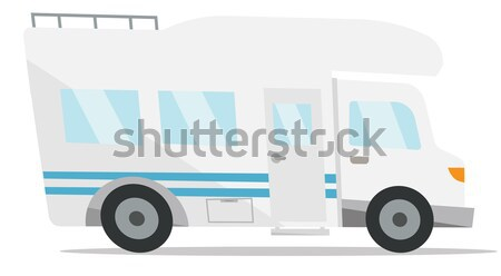 Commercial delivery truck vector illustration. Stock photo © RAStudio