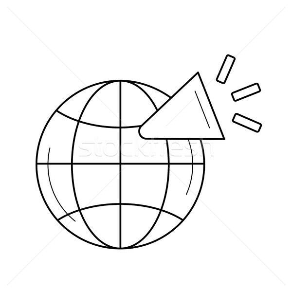 Global network line icon. Stock photo © RAStudio