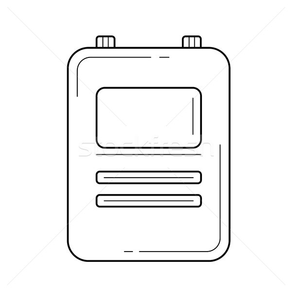 Médico registros linha ícone vetor isolado Foto stock © RAStudio
