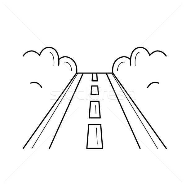 Highway road line icon. Stock photo © RAStudio