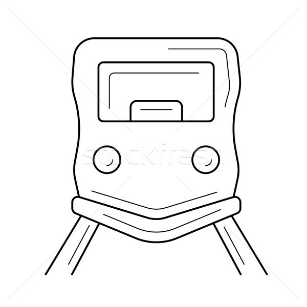 City tram line icon. Stock photo © RAStudio