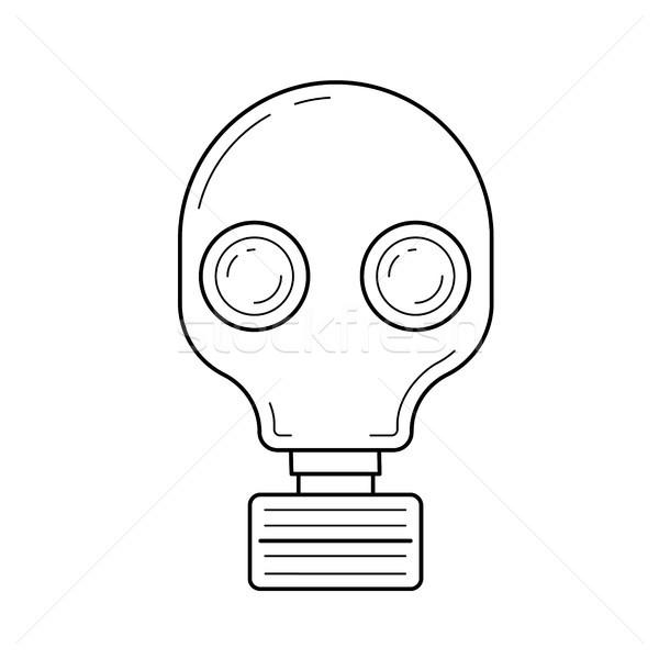 Respirator vector line icon. Stock photo © RAStudio