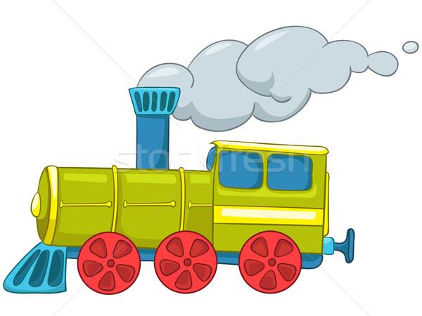 Rajz vonat illusztráció izolált fehér vektor Stock fotó © RAStudio