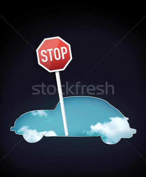 Foto stock: Signo · tráfico · silueta · coche · diseno · infografía · trabajo