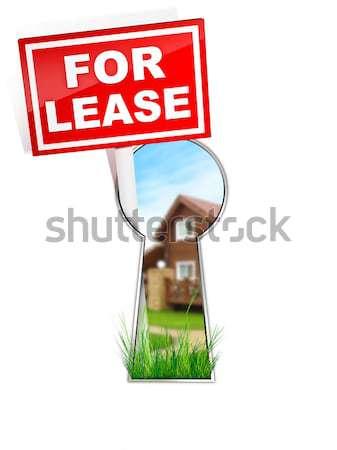 にログイン 不動産 家 ホーム 赤 ストックフォト © RAStudio