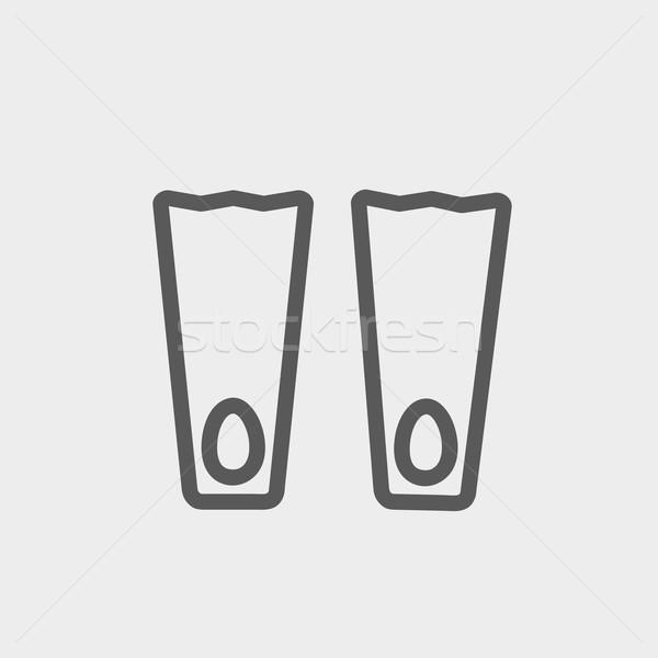 Swimming flippers thin line icon Stock photo © RAStudio