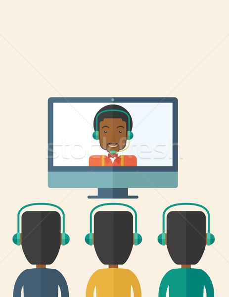 Grupo negro tipo línea debate Foto stock © RAStudio