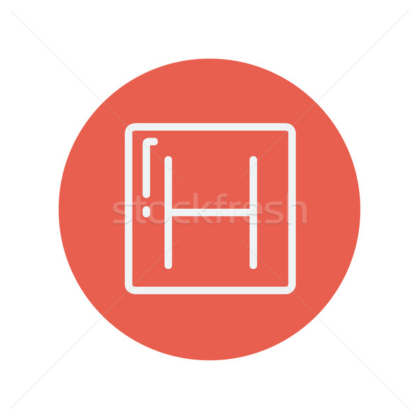 Hospital thin line icon Stock photo © RAStudio