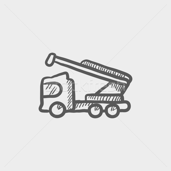 Towing truck sketch icon Stock photo © RAStudio