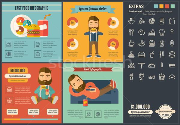 Stockfoto: Fast · food · ontwerp · sjabloon · communie · illustraties