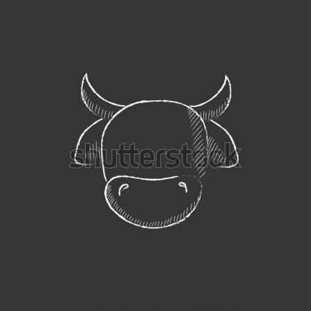 Blaas icon krijt Blackboard Stockfoto © RAStudio