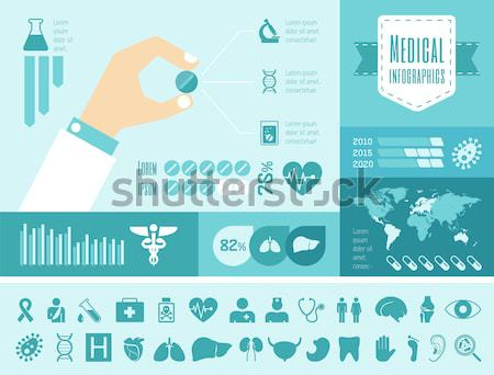 Maternity flat design Infographic Template Stock photo © RAStudio