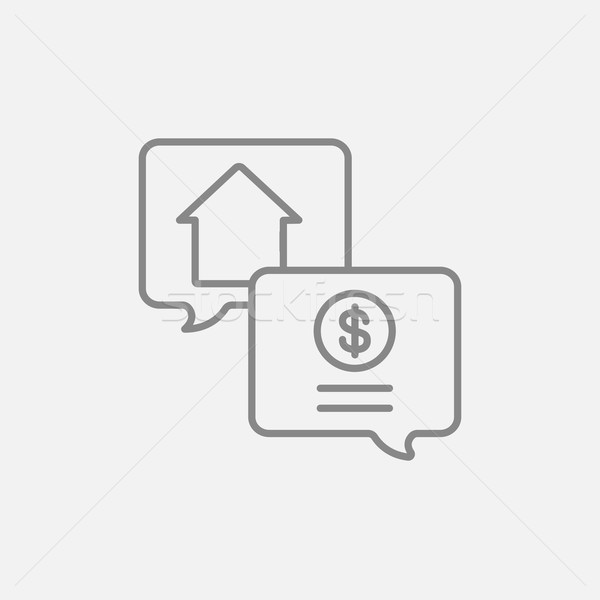 Immobiliari transazione line icona web mobile Foto d'archivio © RAStudio