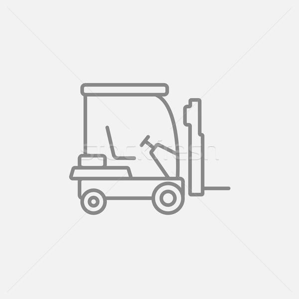 Stock fotó: Targonca · vonal · ikon · háló · mobil · infografika