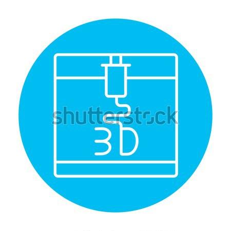 дерево печати линия икона веб мобильных Сток-фото © RAStudio