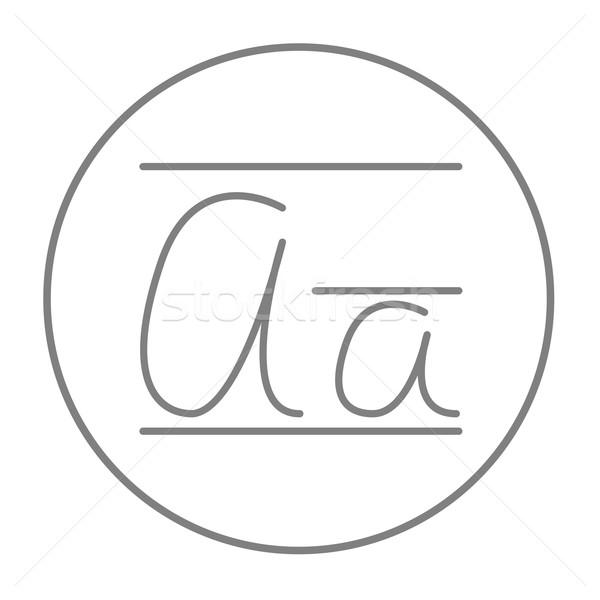 Mektup hat ikon web hareketli infographics Stok fotoğraf © RAStudio