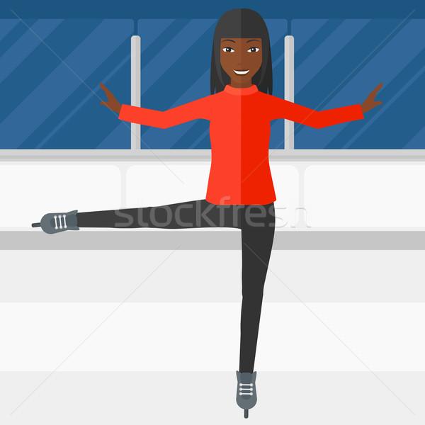 Female figure skater. Stock photo © RAStudio