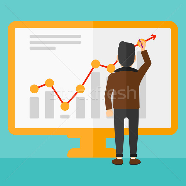 Businessman presenting report. Stock photo © RAStudio