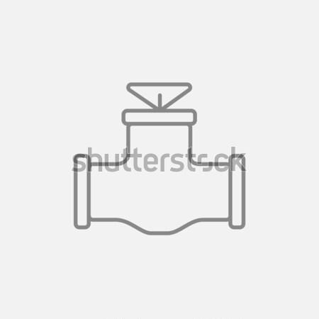 Gas pipe valve line icon. Stock photo © RAStudio
