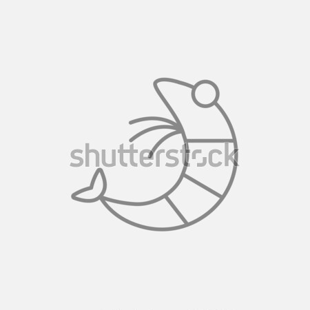 Shrimp line icon. Stock photo © RAStudio