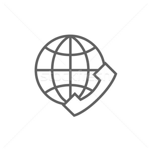 Global communications line icon. Stock photo © RAStudio