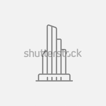 Skyscraper office building line icon. Stock photo © RAStudio